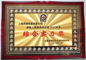 上海希望经济城2009.度综合实力奖