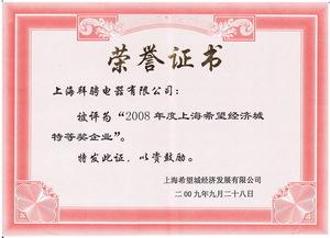 上海希望经济城2008.度特等奖