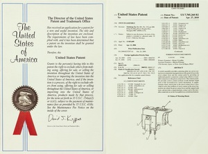 美国专利证书一
